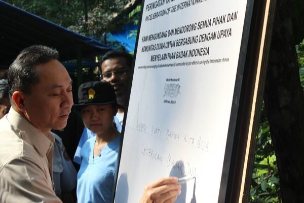Penandatanganan Dukungan Konservasi Badak Sumatera