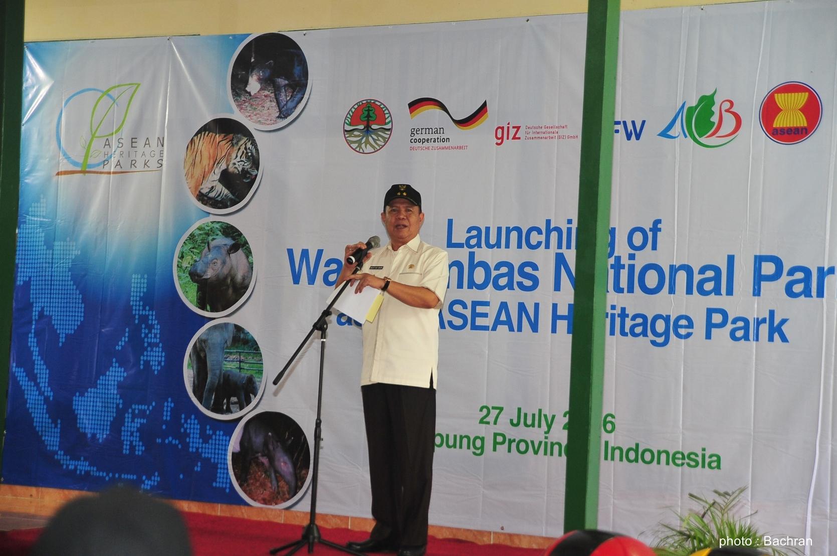 sambutan dari Wakil Gubernur Lampung, Bapak Bachtiar Basri